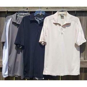 Lot of 3 Men's L Polo Shirts